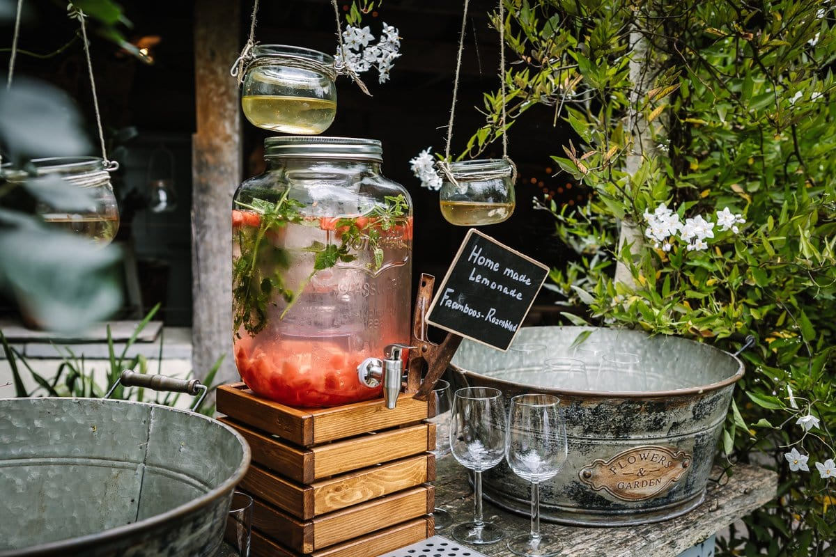 professional corporate event photography juice bar party venue outdoor image natural light brand photographer surrey