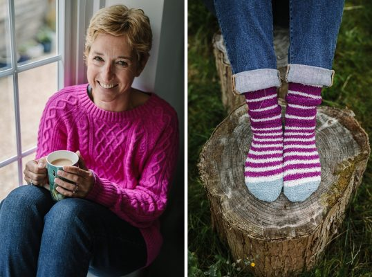 personal branding photo shoot session pureness gemma_cockrell guildford breast cancer awareness month pink jumper striped socks